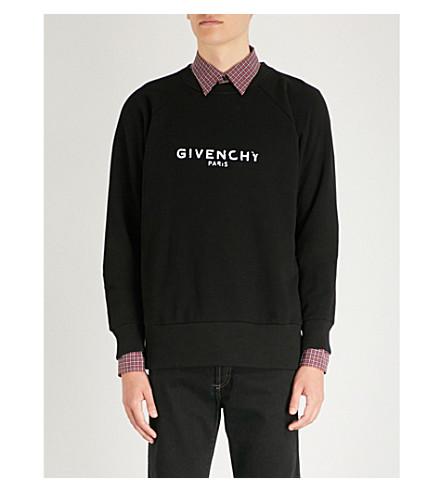 Negro de de GIVENCHY algodón jersey Sudadera desgastada WfTxPqYxn
