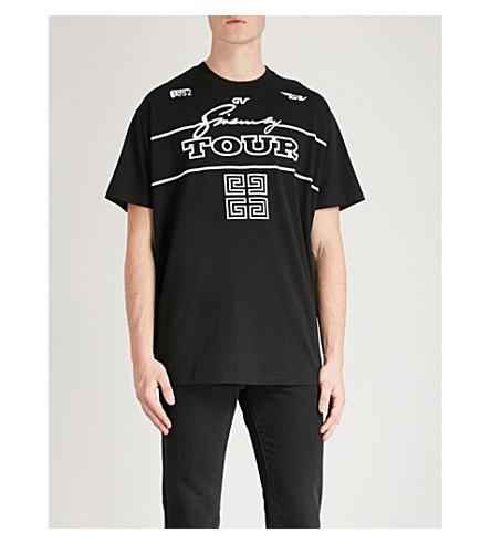 cotton T Black GIVENCHY 4G logo jersey GIVENCHY print 4G shirt xwzX0qSPz