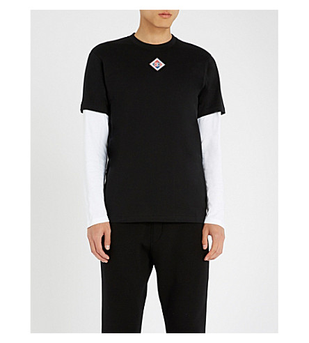 GIVENCHY Logo-patch cotton-jersey T-shirt (Black