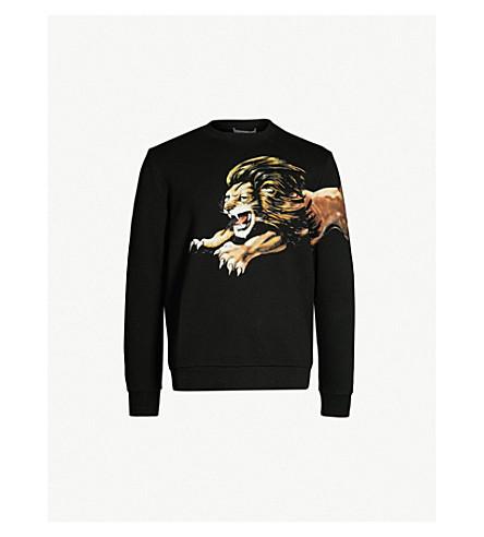 GIVENCHY Lion-print cotton-jersey sweatshirt (Black