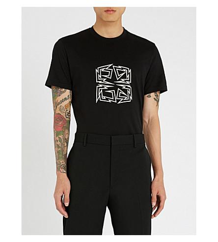 GIVENCHY Metal logo-print cotton-jersey T-shirt (Black