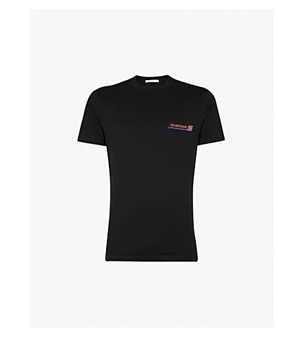 GIVENCHY Sequinned logo cotton-jersey T-shirt (Black