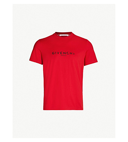 GIVENCHY Logo-print cotton-jersey T-shirt (Bright red