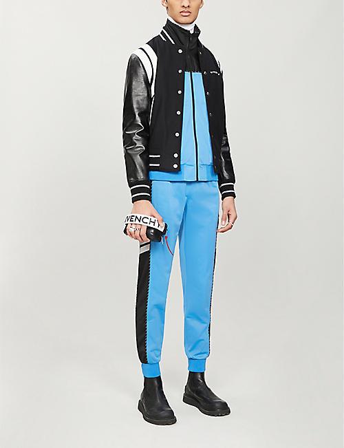 GIVENCHY 颜色阻塞高颈弹力平纹针织夹克