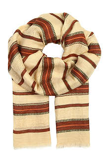 RALPH LAUREN Candice striped linen scarf