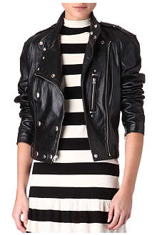 RALPH LAUREN Ricky leather moto jacket