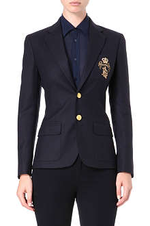 RALPH LAUREN Wool embroidered blazer