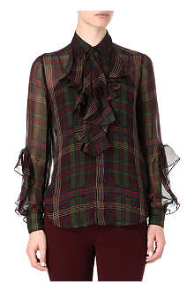 RALPH LAUREN Ruffled check shirt