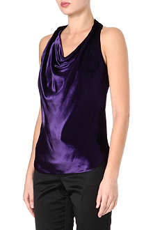 RALPH LAUREN Velvet sleeveless top