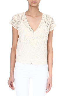 RALPH LAUREN Mandy short-sleeved lace top