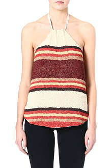 RALPH LAUREN Beaded halter top