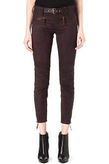 RALPH LAUREN Coated biker trousers