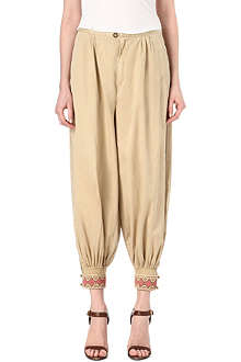 RALPH LAUREN Beaded-cuff harem trousers