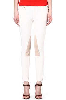 RALPH LAUREN Cotton leather panel jodhpurs