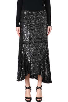 RALPH LAUREN Sequinned maxi skirt