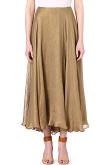 RALPH LAUREN Marias silk skirt
