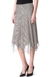 RALPH LAUREN Kristina striped silk skirt