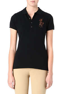 RALPH LAUREN Beaded crest polo shirt