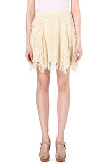 RALPH LAUREN Lace flared skirt