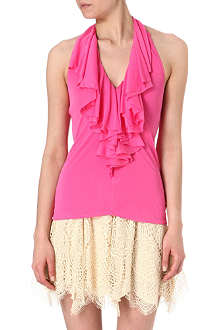 RALPH LAUREN Ruffled halterneck top