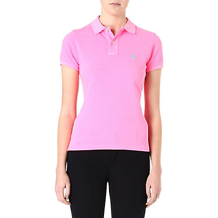 RALPH LAUREN Skinny fit polo shirt (Pink