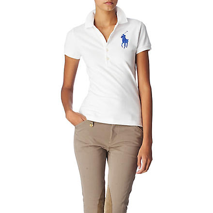 RALPH LAUREN Cotton polo shirt (White