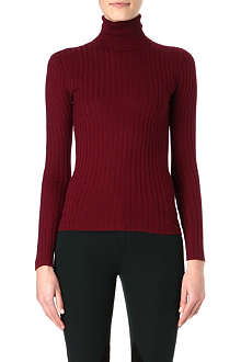 RALPH LAUREN Chunky ribbed roll-neck jumper