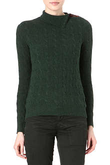 RALPH LAUREN Cable-knit wool and cashmere jumper