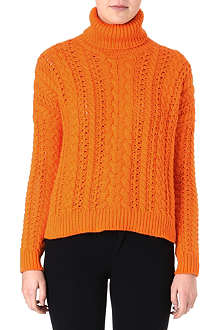 RALPH LAUREN Cable-knit turtleneck jumper