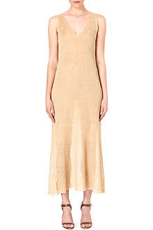 RALPH LAUREN Semi-sheer knit silk dress