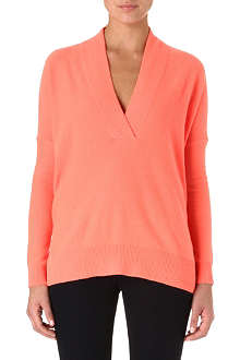 RALPH LAUREN Surplice neck cashmere jumper