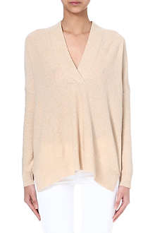 RALPH LAUREN Surplice-neck cashmere jumper