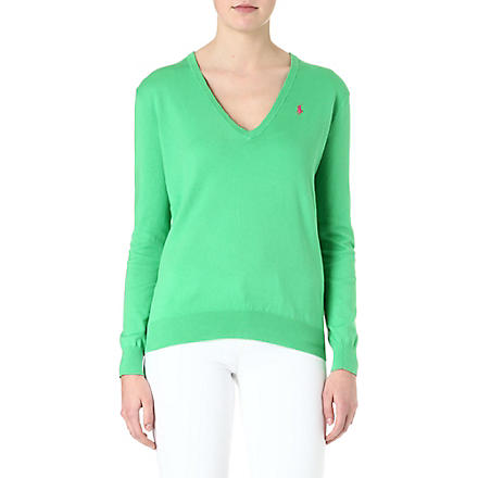 RALPH LAUREN V-neck cashmere jumper (Mint