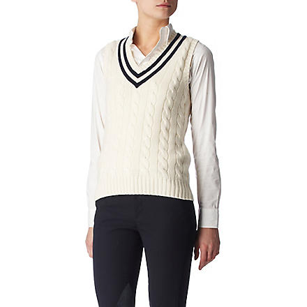 RALPH LAUREN Wimbledon cable-knit top (Herbal milk w/b