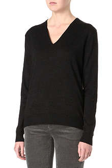 RALPH LAUREN V-neck knitted wool jumper