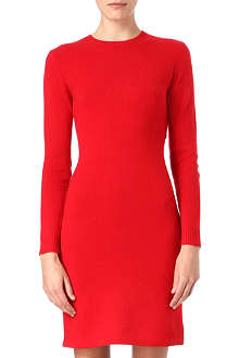 RALPH LAUREN Elbow-patch knitted dress