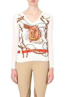 RALPH LAUREN Silk-panel sweatshirt