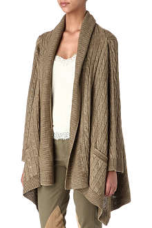 RALPH LAUREN Draped cable-knit cardigan