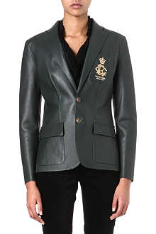 RALPH LAUREN Leather crest blazer