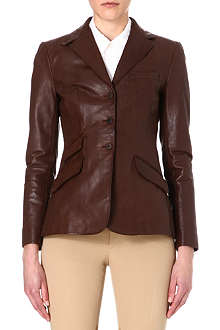 RALPH LAUREN Custom riding leather jacket
