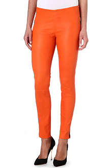 RALPH LAUREN Kaida leather trousers