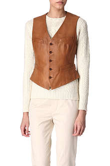 RALPH LAUREN Bartley leather waistcoat