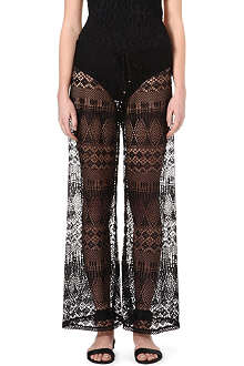 RALPH LAUREN Crochet wide-leg trousers