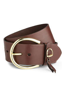 RALPH LAUREN Wide leather belt