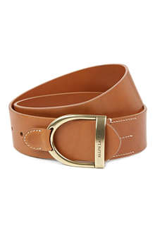 RALPH LAUREN Vachetta leather belt