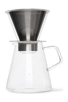 KINTO Carat coffee dripper and pot