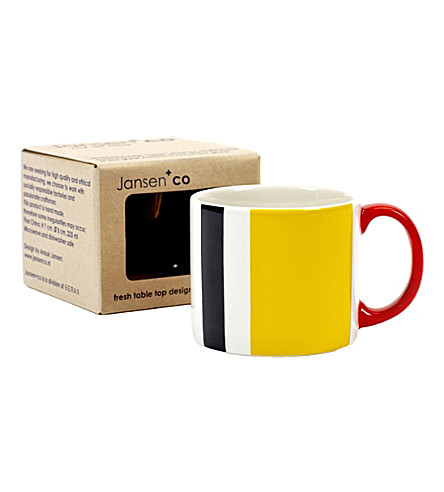 JANSEN My Artmug Piet ceramic mug