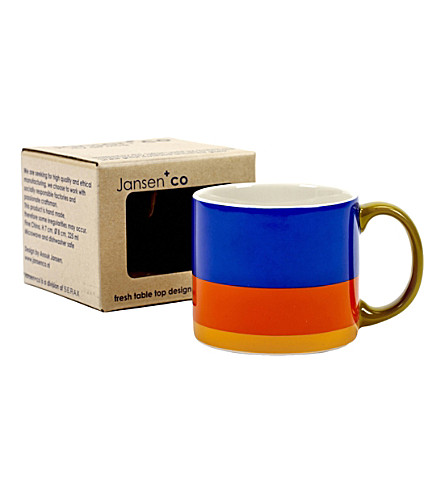 JANSEN My Artmug Mark ceramic mug