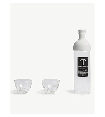 HARIO Filter-in bottle and tea glass set