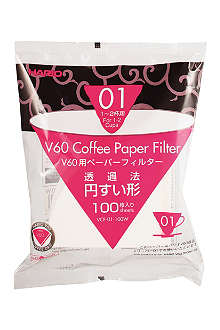 HARIO 100 pack of V60 Coffee Filter Papers for 01 Dripper